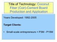 Title of Technology: Coconut Fiber-Cement Board ... - Ecocoboard.net