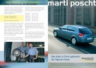 Aus der Opel-Palette I - Garage Marti AG