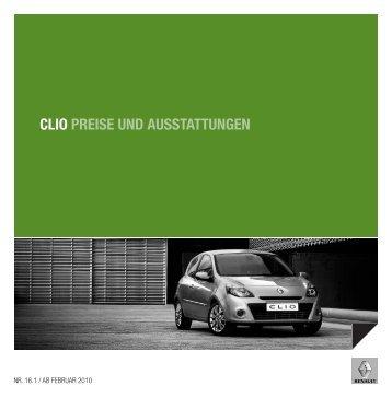 CLIO PREISE UND AUSSTATTUNGEN - Garage Sigrist AG