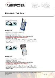 Fiber Optic Talk Set - Fiberswiss