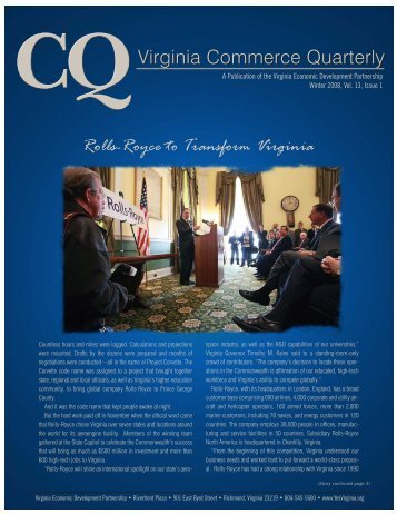 A Publication of the Virginia Economic Development Partnership ...