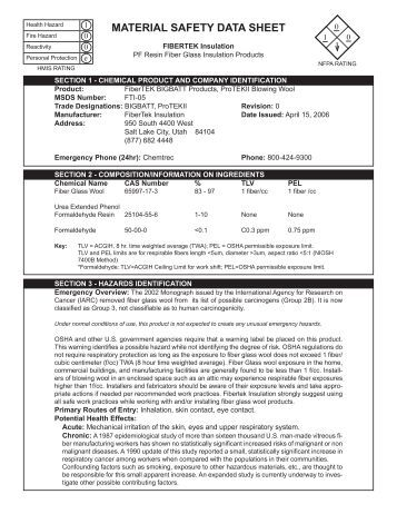 Insulation Mastic Revised June 2004 Material Safety