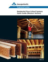 Residential Floor & Roof Systems Quick Guide - BlueLinx