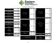 IN-STOCK PRODUCTS - Eastern Engineered Wood Products