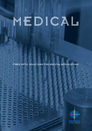 fiber optic solutions for medical applications - Diamond SA