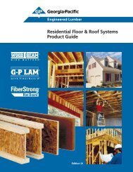 Engineered Lumber Floor and Roof Systems Product Guide