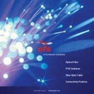 Optical Fiber FTTX Solutions Fiber Optic Cable Connectivity ... - Logo