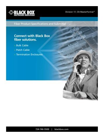 Connect with Black Box fiber solutions.