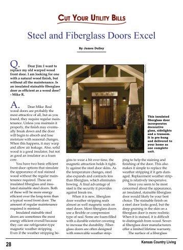 Steel and Fiberglass Doors Excel Q. A. - Bluestem Electric