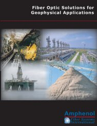 Fiber Optic Solutions for Geophysical Applications - Fiber Systems ...