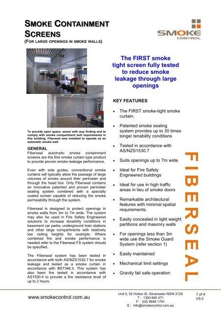 Smoke Control Fiberseal Smoke Containment Screens