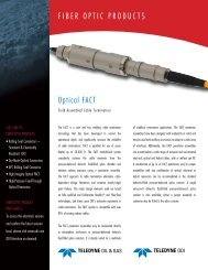 FIBER OPTIC PRODUCTS Optical FACT - Teledyne ODI