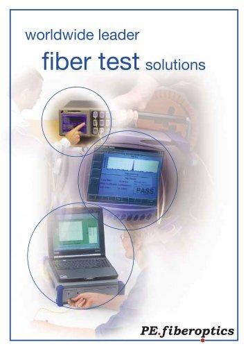 fiber test solutions - PE.fiberoptics