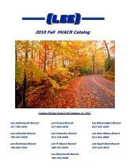2010 Fall HVACR Catalog - Lee Supply!