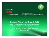 Optical Fibers for Smart Grid and Geophysical Applications - CPqD
