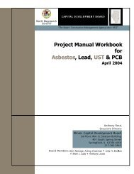 Project Manual Workbook for Asbestos, Lead, UST ... - State of Illinois