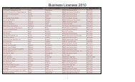 Business Licenses 2010 - the City of Rock Hill, Missouri