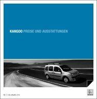 KANGOO PREISE UND Ausstattungen - Garage Sigrist AG