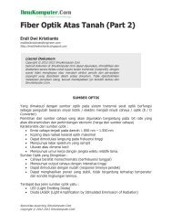 Fiber Optik Atas Tanah (Part 2) - IlmuKomputer.Com