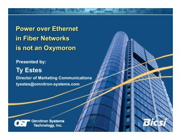 Power over Ethernet in Fiber Networks Power over Ethernet ... - Bicsi
