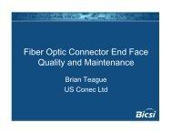 BICSI Fiber Optic Connector End Face Qualityand Maintenance