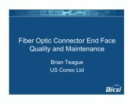 BICSI Fiber Optic Connector End Face Qualityand Maintenance