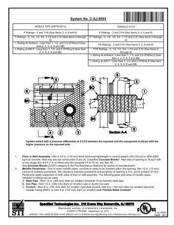 C-AJ-8093 - STI - Specified Technologies Inc