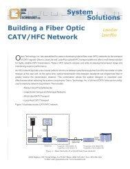 Building a Fiber Optic CATV/HFC Network - Olson Technology Inc.