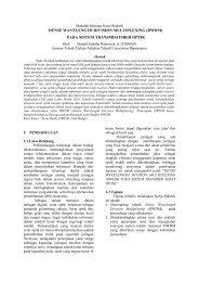 dense wavelength division multiplexing - Teknik Elektro Universitas ...
