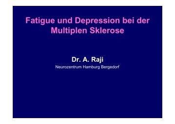 Fatigue und Depression bei der Fatigue und Depression bei der ...