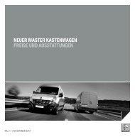 NEUER MASTER KASTENWAGEN PREISE ... - Garage Sigrist AG