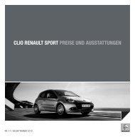 CLIO RENAULT SPORT PREISE UND ... - Garage Sigrist AG