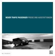 NEUER TRAFIC PASSENGER PREISE UND ... - Garage Sigrist AG
