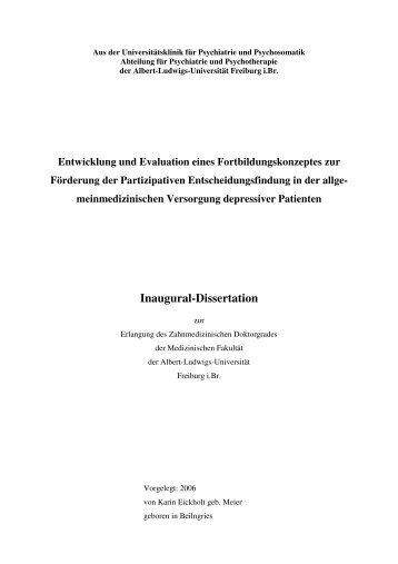 Endversion korrigiert 1.7.2006 - FreiDok - Universität Freiburg