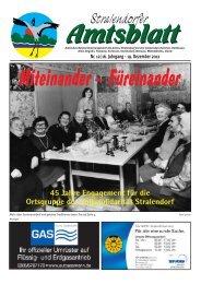 Aus den Gemeinden - Amt Stralendorf