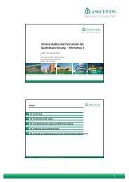 Interne Audits als Instrument der Qualitätssicherung