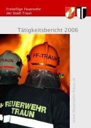 Tätigkeitsbericht 2006 - Freiwillige Feuerwehr der Stadt Traun
