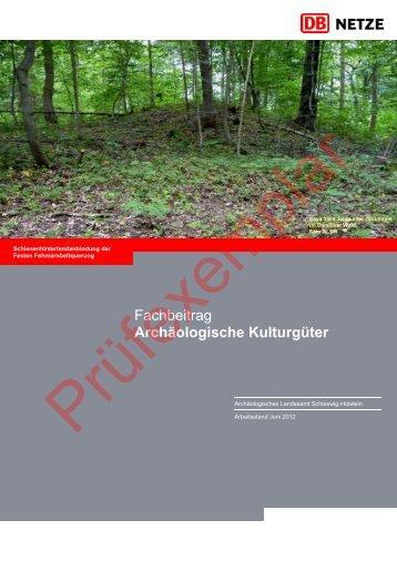 Fachbeitrag Archäologische Kulturgüter - Dialogforum Feste ...