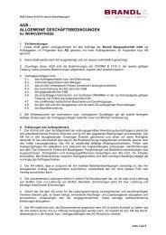 AGB - ALLGEMEINE GESCHÄFTSBEDINGUNGEN - Brandl-Bau