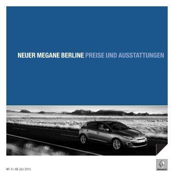 NEUER MEGANE BERLINE PREISE UND ... - Garage Sigrist AG