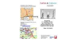 Flyer Trennungs- und Scheidungskindergruppe FFB - Caritas