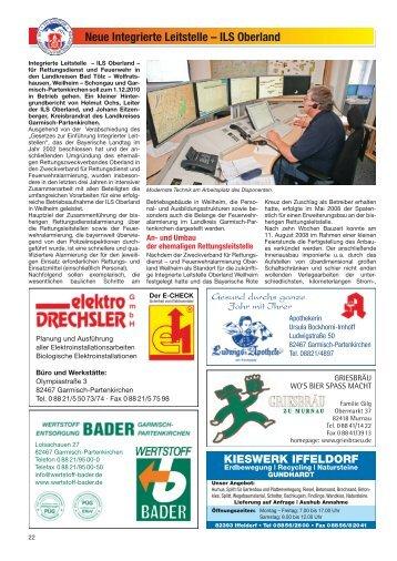 ILS Oberland - Freiwillige Feuerwehr Oberammergau