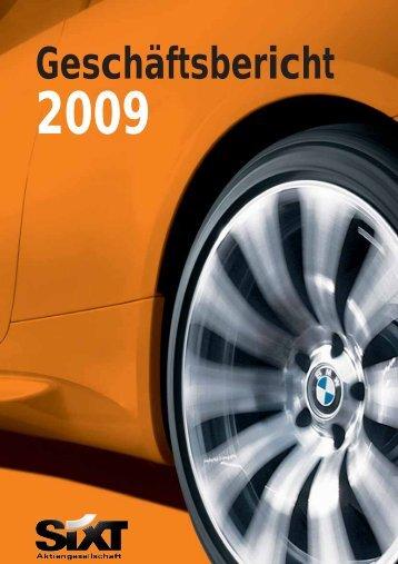 Geschäftsbericht 2009 - Sixt AG