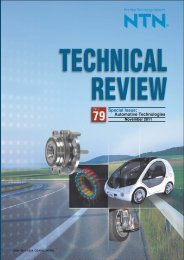 Special Issue; Automotive Technologies - NTN