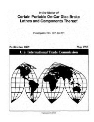 Certain Portable On-Car Disc Brake Lathes and - United States ...