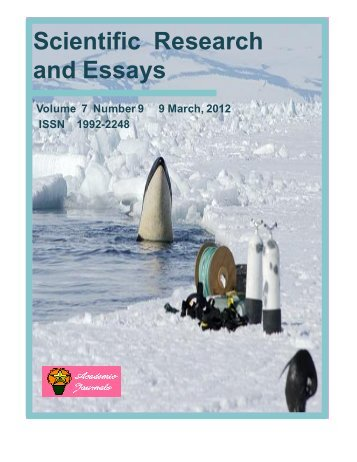 Scientific Research and Essays - Academic Journals