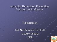 Vehicular Emissions Reduction Programme in Ghana - UNEP