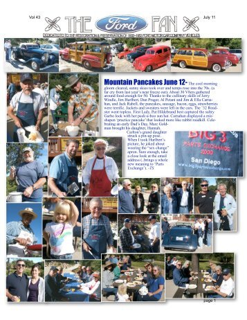 Mountain Pancakes June 12-The cool morning - Early Ford V-8 Club ...