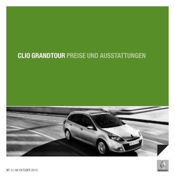 CLIO GRANDTOUR PREISE UND ... - Garage Sigrist AG