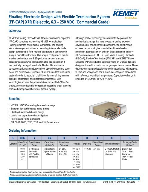 ± 10/%, 3225 Metric 1210 5 X SMD Multilayer Ceramic Capacitor 0.33 µF 50 V